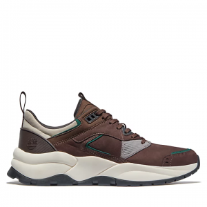 Sneaker in Pelle da Uomo Timberland Tree Racer in Marrone