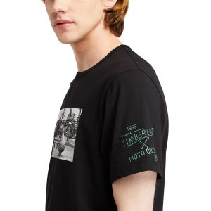 T-Shirt da Uomo con Foto Moto Guzzi X Timberland® in Colore Nero