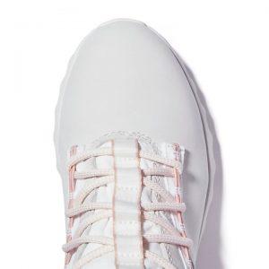 Sneaker Alta da Donna Timberland YC Edge in Bianco e Rosa