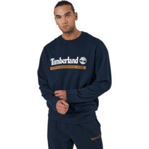 Felpa Girocollo da Uomo Timberland YC Established 1973 in Blu Scuro